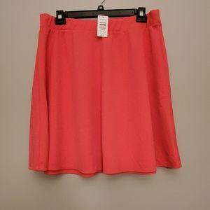 NWT Torrid Coral Skater Skirt, Size 2, 2X, 18/20